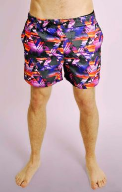 Triangle Geo Print Swimshorts